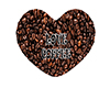 Coffee Beans Heart Pose