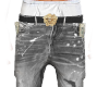 PAINTED JEANS GREY VSACE