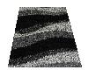 Black/Grey Plush Rug