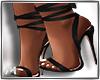 Tie up Heels Black