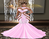 Crystal Med Gown Pink