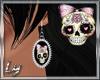[Ly]Fancy Skull Earrings