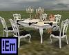 !Em B&White Dinner Table