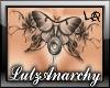 Moth Chest Tattoo