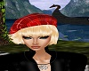 Red Scotish Beret/Blonde