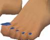 Blue matching v.toenails
