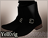 [Y] Leo black boots M