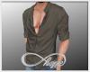 Half-Button Shirt Olive