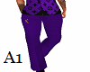 Stem Dress Slacks Purple