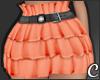 !© Ruffled Skirt Peach