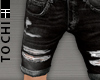 #T Ripped Jeans #Black