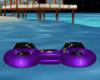 purple animated floats