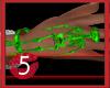 Skeleton Bracelet Green