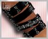 {LIX} M/Black Bracelets