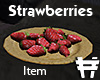 RC strawberries plate