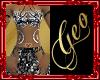 Geo Dammed Dress Silver