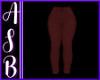 Ladies M Burgandy Pants