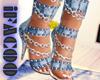 ♕ Jeans Heels