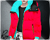 Cherry Neon Puff Coat