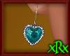 Diamond Heart Teal ER