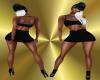 Q-Mini Dress Black RL