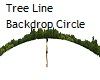 Tree Line BackdropCircle