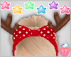 ! Raindeer Ears W/ Bow
