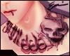 666 Goth Neck Tattoo