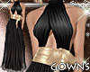 Gown - Black and Gold