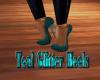 Teal Glitter Heels