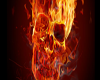 Ice skates flames