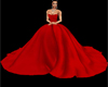 Red Rose Petal Gown