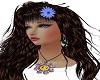 Daisy hair fleur blue