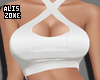 [AZ] White basic top