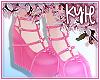 Dark Pink Heart Heels