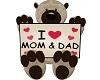 i luv mom dad  bear