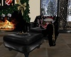 Blk Leather X-Mas Chair
