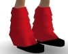 Red  Furry Boots