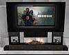 JV TV Fireplace Set