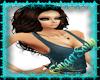 Snakeskin top`Aegean Blu