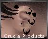Black Ear Piercings L C-