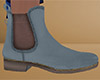 Blue Gray Ankle Boots M