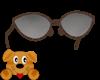!A! Red Glitter Glasses