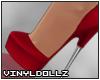 !V! Val Pumps Red