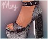 ! Sparkly Grey Heels