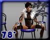 5 blue bk dance chairs