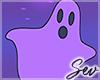 *S Halloween Ghost Art