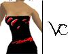 (V) Lava Dress (red)