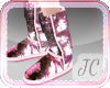 {JC} Shiny UGGs Pink