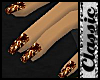 ^j^ Gold Nails Blk/Lthr